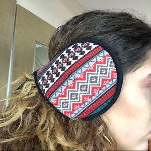 Red Boho Ear Muffs